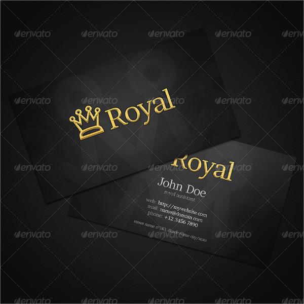 Unique Royal Business Card