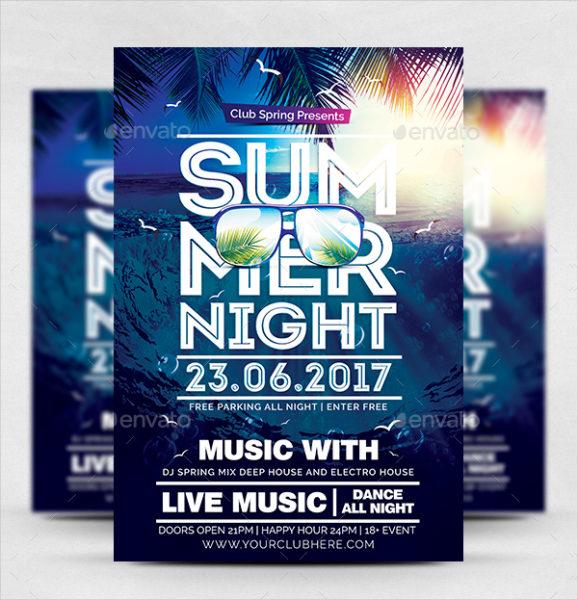 Modern Summer Night PSD Flyer