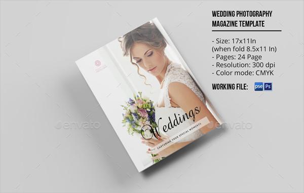 Modern Wedding Photographer Magazine Template