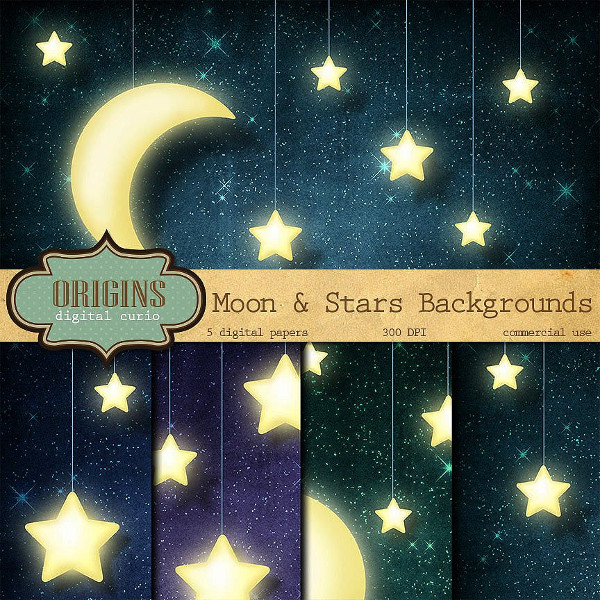 Moon & Stars Backgrounds