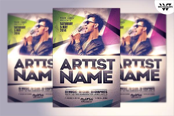 Music Artist Flyer Template