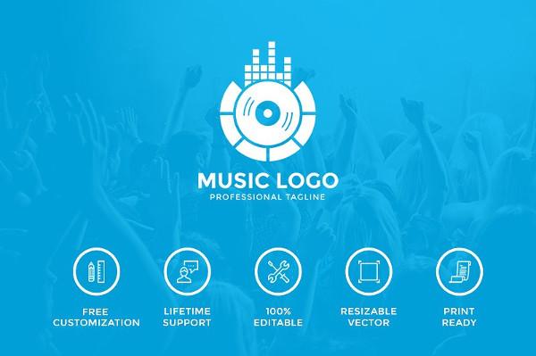 Music Club Logo Template