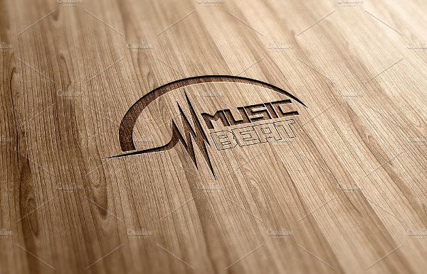 Music Beat Logo Design