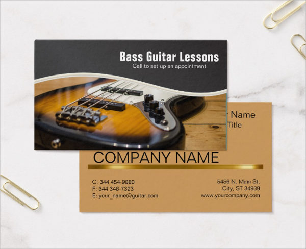Music Instructors Business Card Template