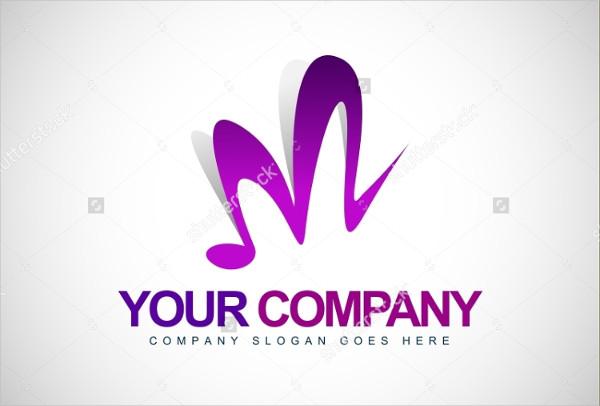 Music Letter M Logo Template