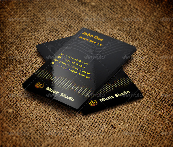 Clean Music Manager Business Card Template
