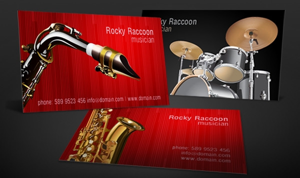 Musicians Business Card Set Free Download