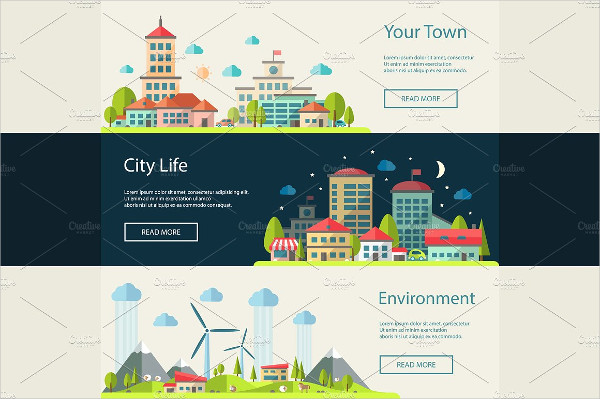 Buildings Vector Infographics Banners