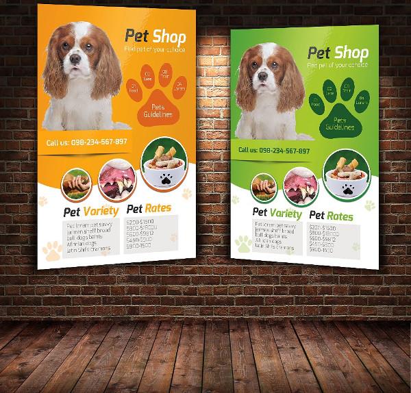 Editable Pet Shop Flyer Template