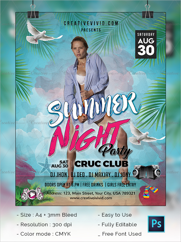 New Summer Night Party Flyer