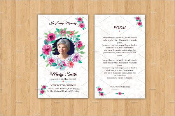 Bi-Fold Funeral Prayer Card