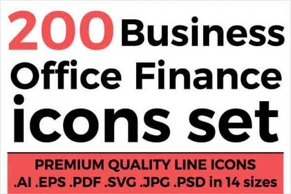 Office and Finance Icons Set