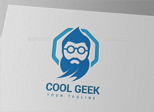 Old Genius Geek Logo Template
