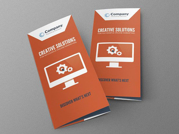 Online Marketing Design Brochure