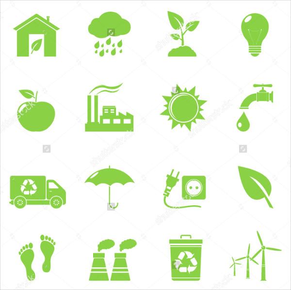 Organic Eco Vector Icons