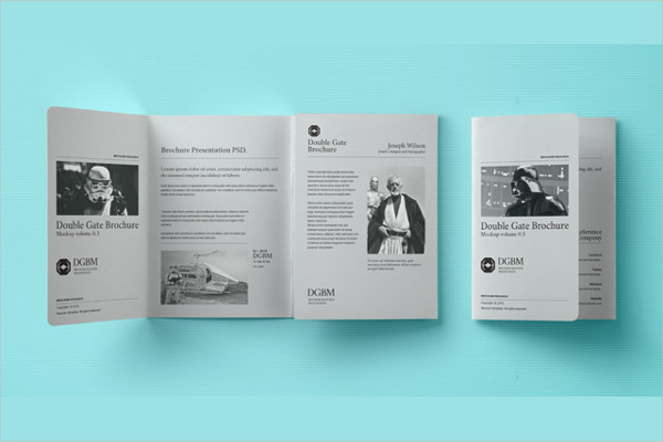PSD Double Gate Fold Brochure Free Download