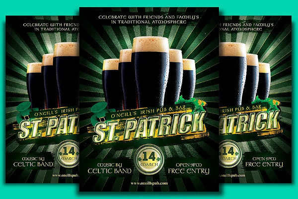 St. Patrick's Beer Flyer Template