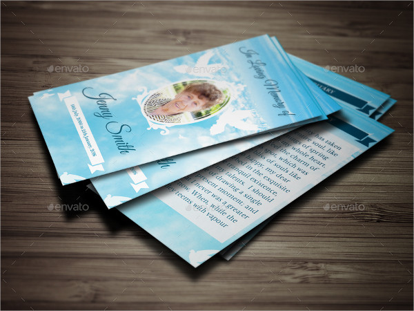 Peace Funeral Prayer Cards