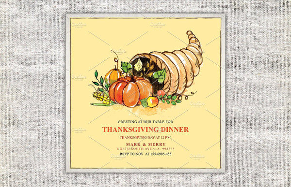 Perfect Thanksgiving Dinner Invitations Card