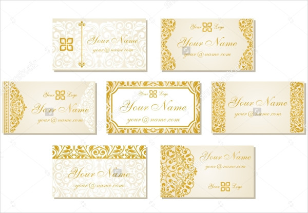 Set of Classic Business Cards