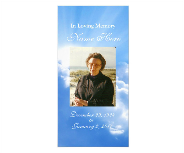Personalized Funeral Prayer Card