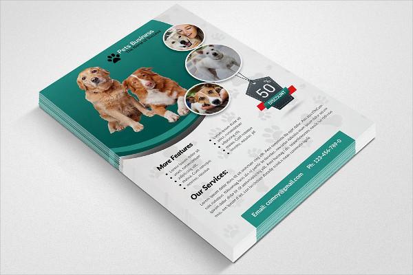 Popular Pet Shop Business Flyer Template
