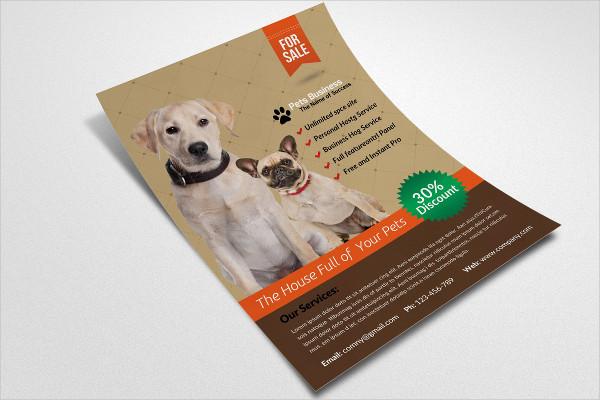 Pet Store Business Flyer Template