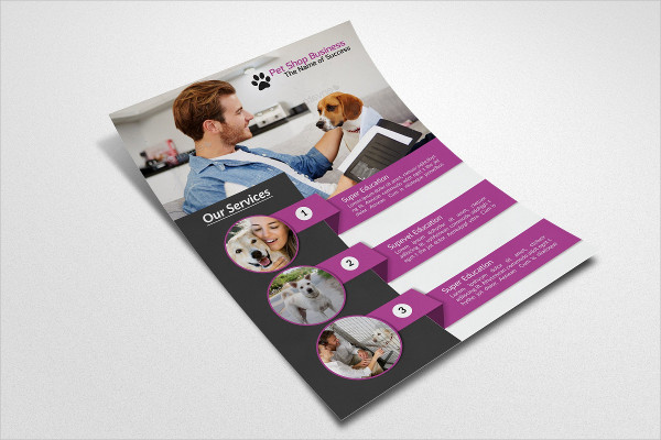 Perfect Flyer Template for Pet Shop Business