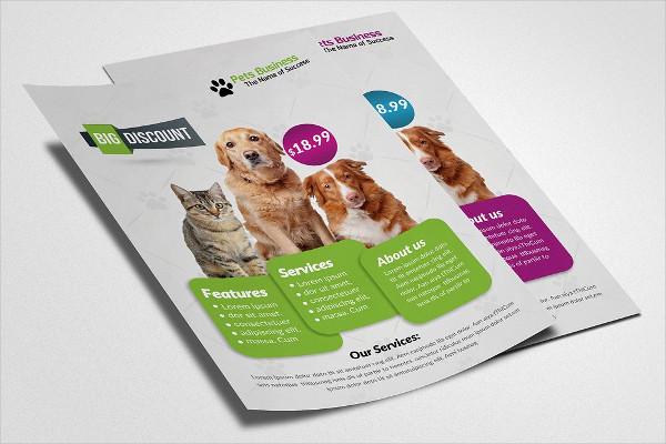 Unique Pet Shop Business Flyer Template