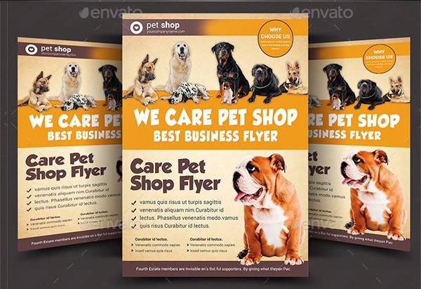 Pet Care Business Flyer Templates