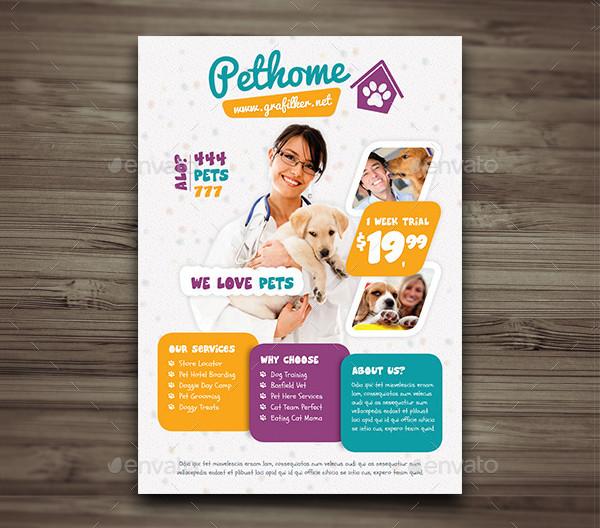 Pet Shop Clinic Flyer Template