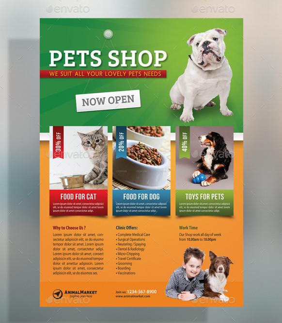 Pet Supplies Shop Flyer Template