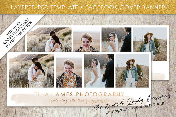 Photography Facebook Cover Banner Template