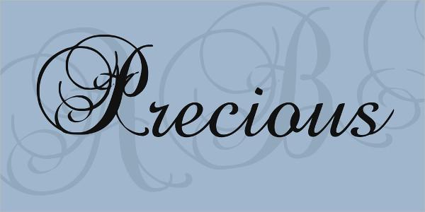 Free Precious Script Font