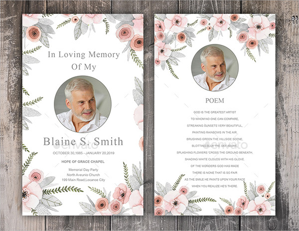 Printable Prayer Card for Funeral