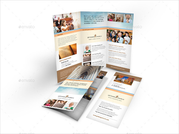 Professional Church Trifold Brochure