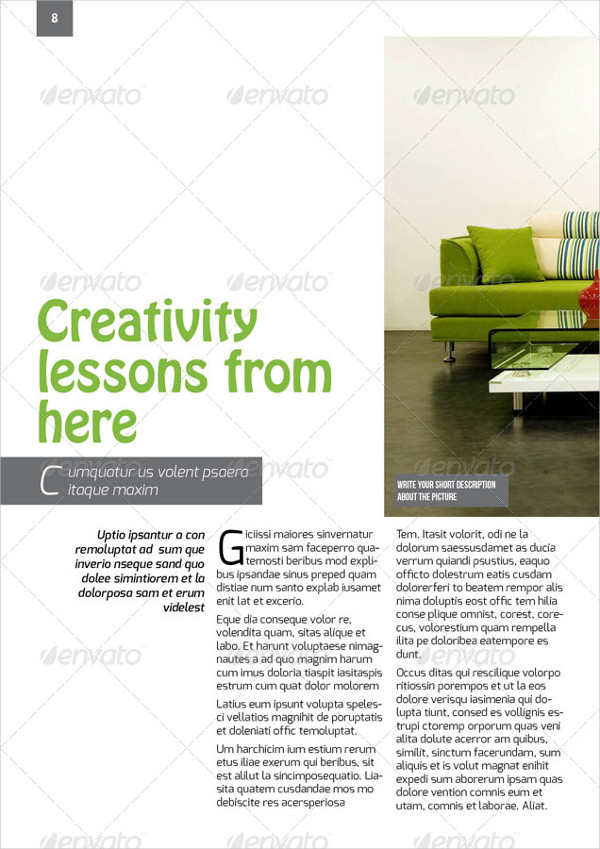 Professional Interior Design Magazine Template