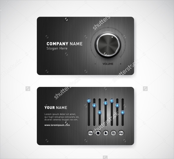 Professional Music Teacher Business Cards