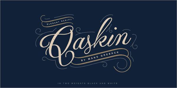 Qaskin Black Personal Use Font Free Download
