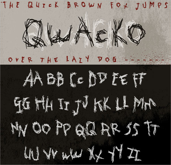 Hand-Drawn Graffiti Type Font