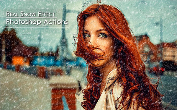Real Snow Effect Photoshop Actions