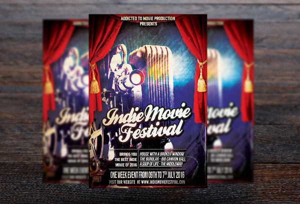Red Carpet Movie Festival Flyer Template