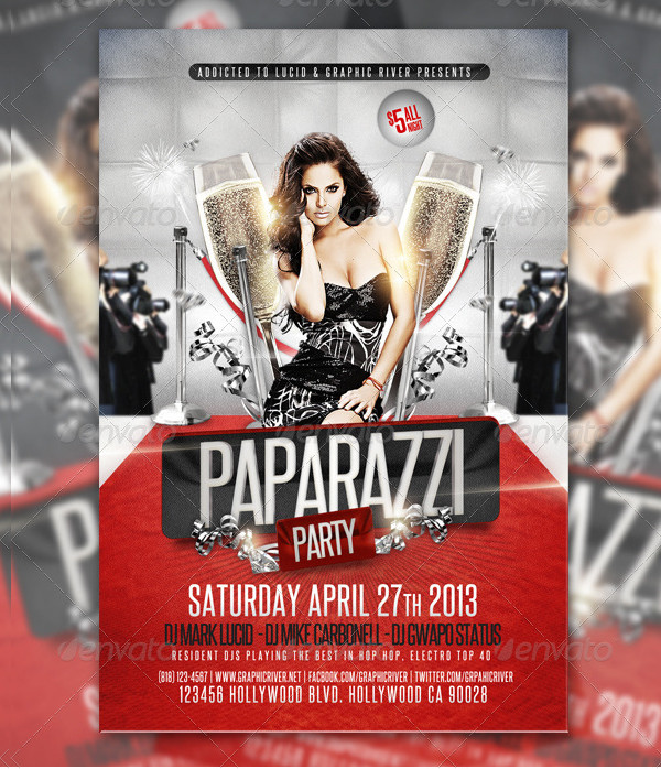 Celebrity Red Carpet Party Flyer Template