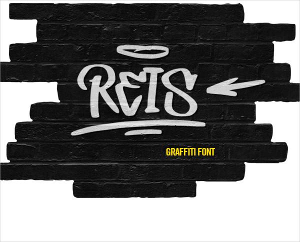 REIS Graffiti Style Font