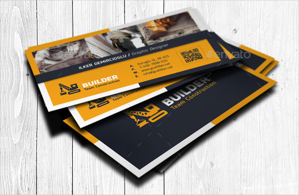 25 construction business card templates free premium download best construction business card templates accmission Gallery