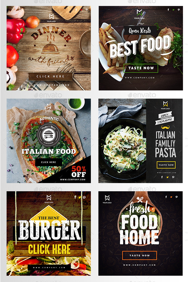 Professional Food & Restaurant Banners