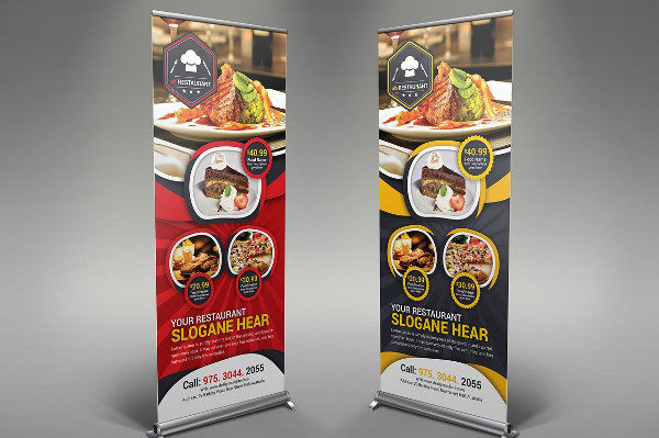 Unique Restaurant Rollup Banners
