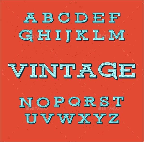 Retro Vintage Style Alphabet Font