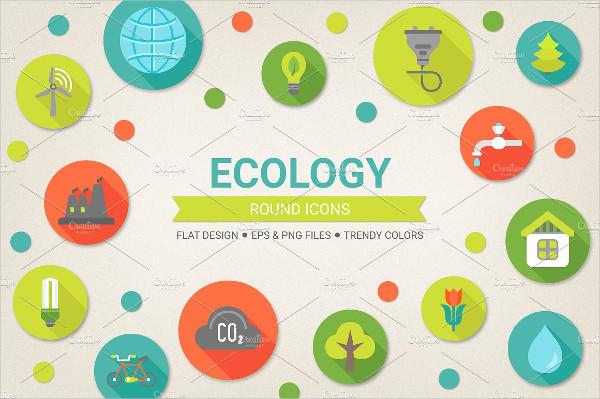 Ecology Flat Design Icons