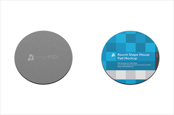 Round Mouse Pad Design Mockup